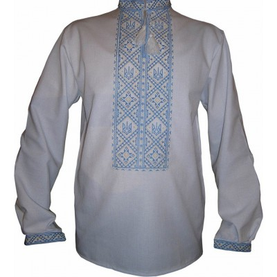 "Embroidered shirt ""Ukrainian Trident"""