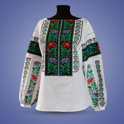 """SALE!! Embroidered blouse """"Awakening of Nature"""", size S2"""