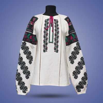 """SALE!! Embroidered blouse """"Exotic Flower"""", size S"""