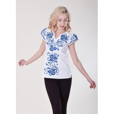 "Embroidered blouse ""Arabesque"" blue"