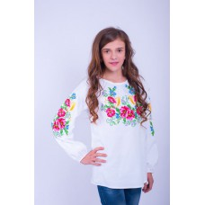 "Embroidered blouse for girl ""Sound Bouquet"""