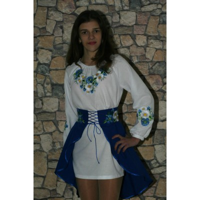 "Embroidered costume for girl ""Cornflower Dreams"" teenage"