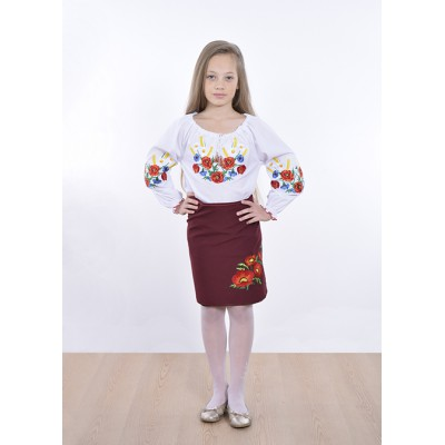 """Embroidered blouse for little girl """"Panna: Blooming Field"""""""