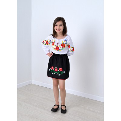 """Embroidered blouse for little girl """"Panna: Bright Country"""""""