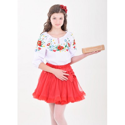 """Embroidered blouse for little girl """"Panna: Cutie"""""""