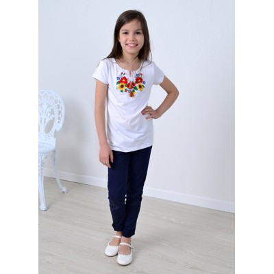 "Embroidered tee-shirt for little girl ""Panna: Sunshine"""