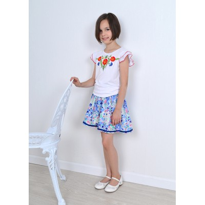 "Embroidered tee-shirt for little girl ""Panna: Sunny Day"""
