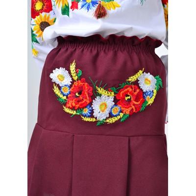 """Embroidered skirt for little girl """"Panna: Summer"""""""