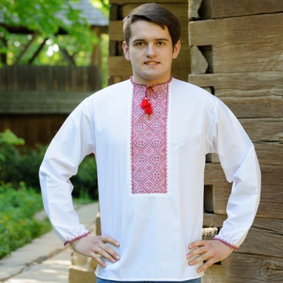 """Embroidered shirt """"Red Classic"""""""