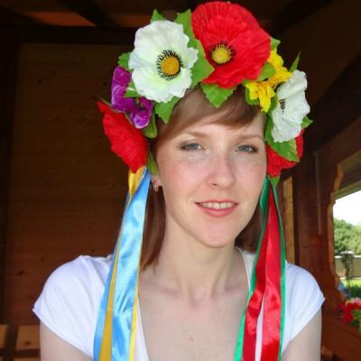 "Ukrainian Wreath ""Colourful Poppies"""