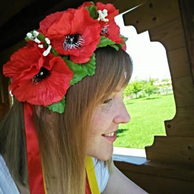 "Ukrainian Wreath ""Double Poppies"""