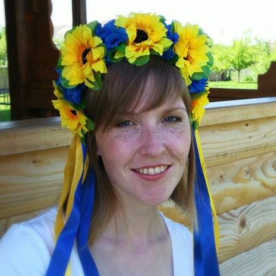 "Ukrainian Wreath ""Patriotic Sunflowers"""