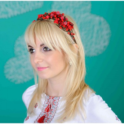 "Ukrainian Hair Band ""Berries Red"""