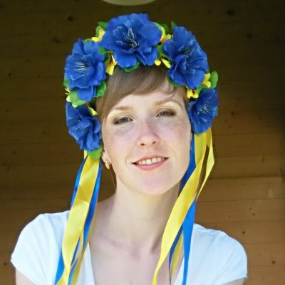 "Ukrainian Wreath ""Patriotic Cornflowers"""