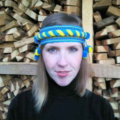 "Ukrainian Chiltse ""Curling Blue&Yellow"""