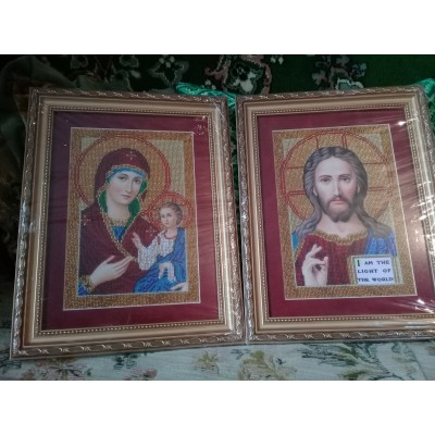 Blessed Marriage Pair Beads Embroidered Icon