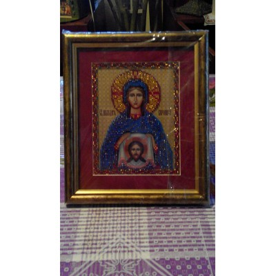 St. Veronica Beads Embroidered Icon