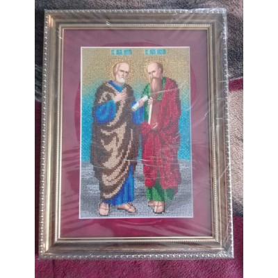 St. Peter and Paul Beads Embroidered Icon