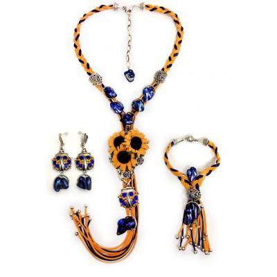 "Jewellery set ""Ukrainian Summer"""