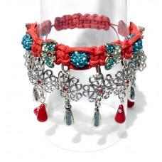 "Bracelet ""Poppies on Grassland"""