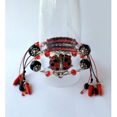 "Bracelet ""Poppies Scarlett"""