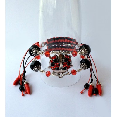"Bracelet ""Poppies Scarlett"""