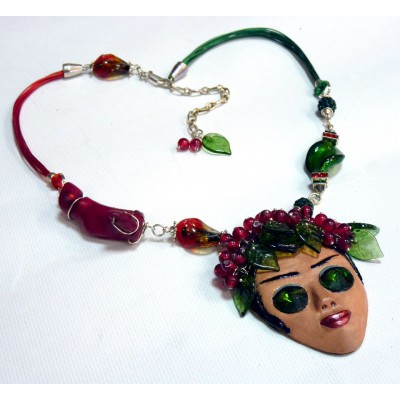"Necklace ""Under the cherry tree..."""
