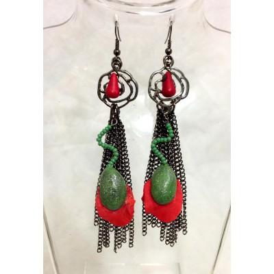 """Earrings """"Poppies Malificenta"""""""