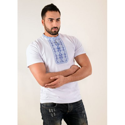 "Embroidered t-shirt for men ""Optimistic 3"""