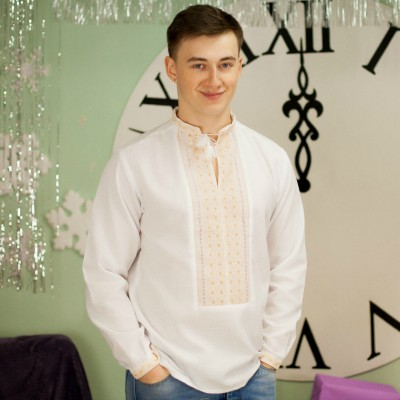 "Embroidered shirt ""White Desert"""