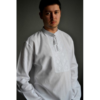 "Embroidered shirt ""White&White"""