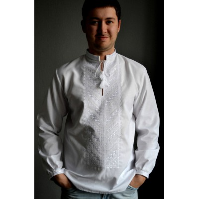 "Embroidered shirt ""White&White 2"""