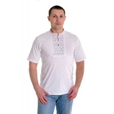 """Embroidered t-shirt for man """"Rhombus Grey"""""""