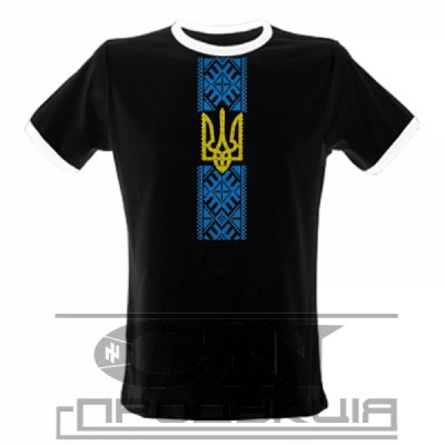 """Embroidered t-shirt for man """"Patriotic Black"""""""