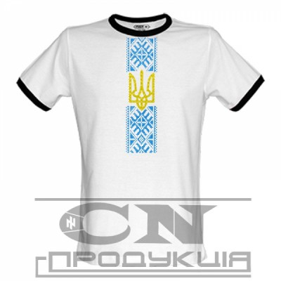 """Embroidered t-shirt for man """"Patriotic White"""""""