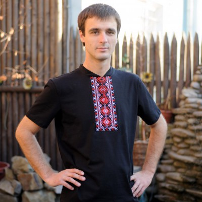 """Embroidered t-shirt for man """"Luck"""""""