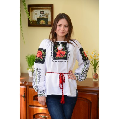 "Embroidered blouse ""Poppies Painting"""