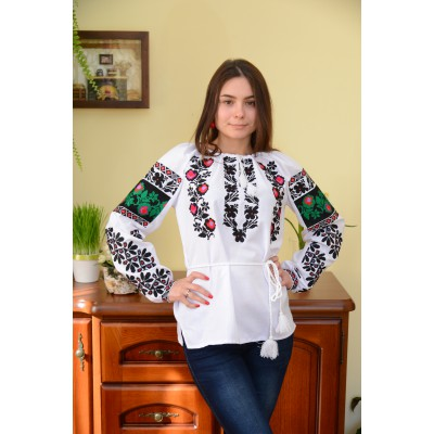 "Embroidered blouse ""Exotic Flowers"""