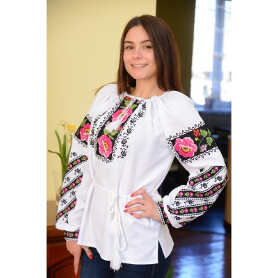 "Embroidered blouse ""Peonies Painting"""