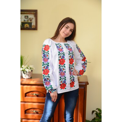 "Embroidered blouse ""Garden of Happiness"""