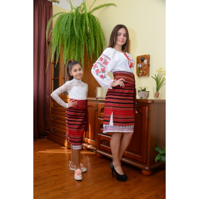 Traditional Woven Plakhta Mother and Daughter set 4