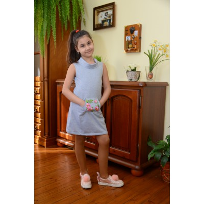 "Embroidered dress for girl ""Dariya"" sleeveless"