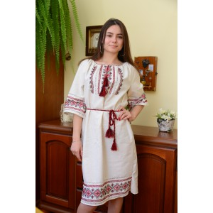 "SALE!! Embroidered dress ""Zoreslava"" handmade, Size L"