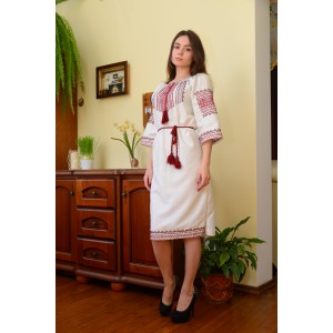 "SALE!! Embroidered dress ""Yaroslava"" handmade, sizes M"