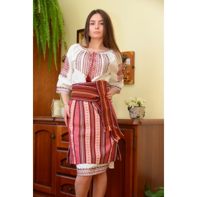 "Set of Ukrainian Plakhta+Underskirt+Krayka ""Voice of Carpathians New"""