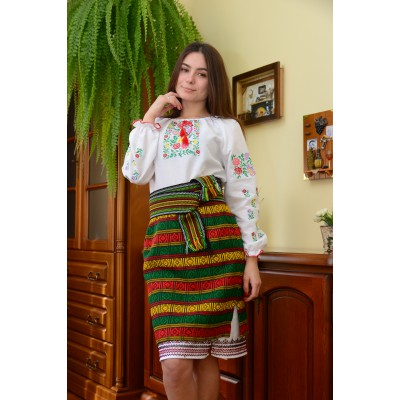 "Set of Ukrainian Plakhta+Underskirt+Krayka ""Forests of Carpathians"""
