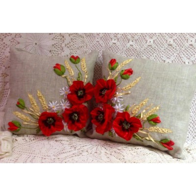 Set of 2 Embroidered Pillow Covers 1