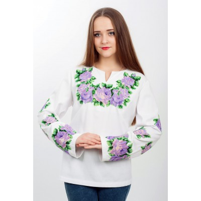 "Beads Embroidered blouse ""Purple Marvel"""