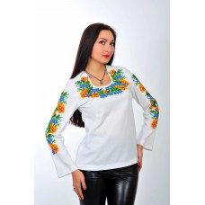 "Beads Embroidered blouse ""Marygold"""