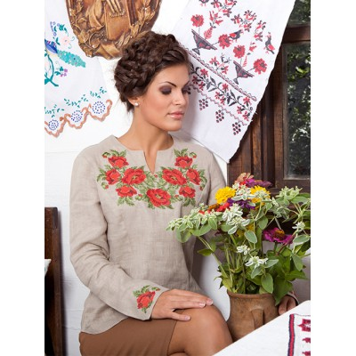 "Embroidered blouse ""Beautiful Roses"""